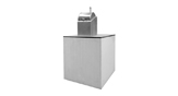 Model: COMPACT — The COMPACT underground waste container equipment can have 3.000, 4.000 or 5.000 litres of capacity. It is composed of one reception bin, one lid and one container fitted to it, a safety platform and an aromoured and vibrated concrete precast