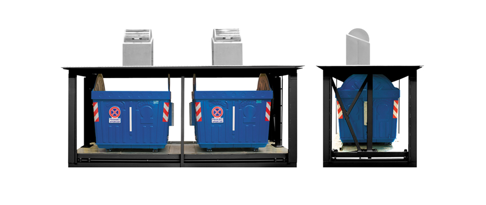 Model: UTHS6000L — UTHS6000 2L equipment for two lateral loading containers of 3.200 litres